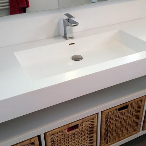 Plan vasque sur mesure ( vasques plusieurs formes)