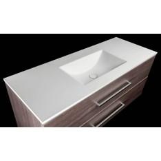 Plan avec vasque rectangulaire en solid surface Model stone référence DANI